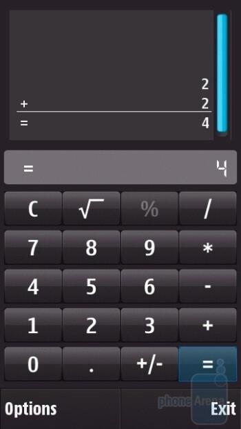 Calculator - Nokia N97 Review