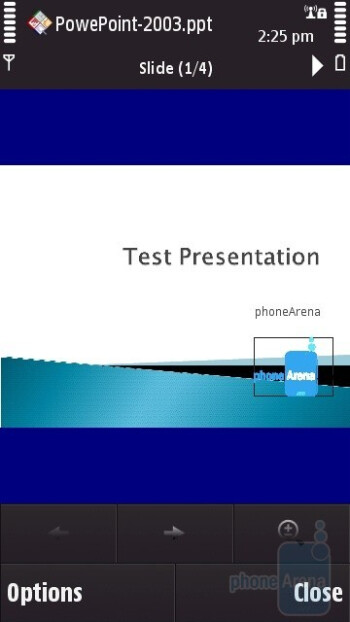 PowerPoint - Viewing office documents on the Nokia N97 - Nokia N97 Review