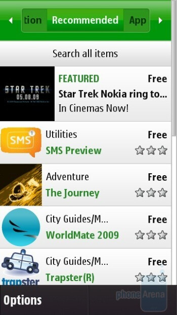Buying apps from the Ovi Store - Nokia N97 Review