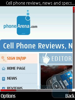 The browser of Nokia 5630 XpressMusic opens even heavy pages without issues - Nokia 5630 XpressMusic Review
