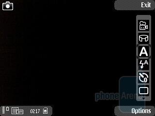 Camera interface - Nokia 5630 XpressMusic Review