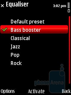 The music player interface of Nokia 5630 XpressMusic - Nokia 5630 XpressMusic Review