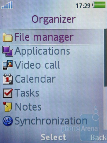 Organizer - The messaging and organizer functions of the Sony Ericsson T700 - Sony Ericsson T700 Review