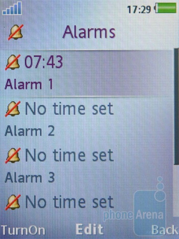 Alarms - The messaging and organizer functions of the Sony Ericsson T700 - Sony Ericsson T700 Review