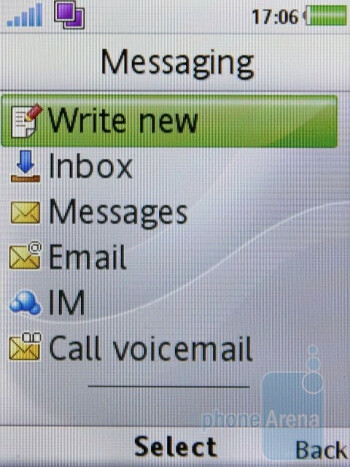 It's easy to attach symbols, add emoticons and enclose files to your messages - Sony Ericsson W995 Review