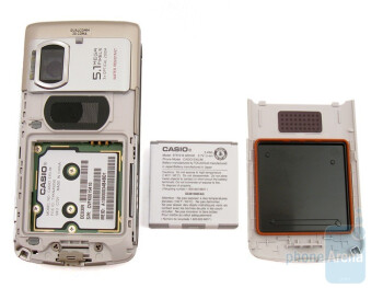 The back of the Casio Exilim C721 - Casio Exilim C721 Review