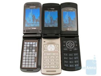 The phones are as follows - Samsung Alias 2, Casio Exilim C721 and LG Chocolate 3 - Casio Exilim C721 Review