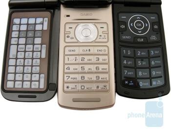 The phones are as follows - Samsung Alias 2, Casio Exilim C721 and LG Chocolate 3 - Casio Exilim C721 Review