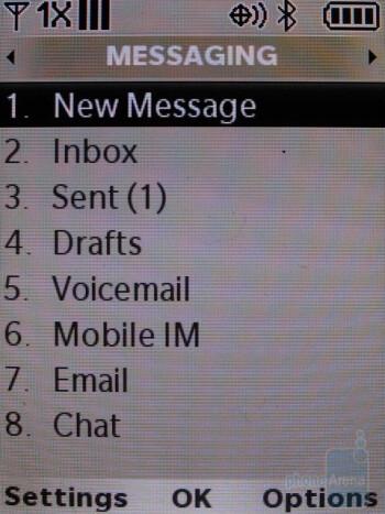 Messaging - LG Glance VX7100 Review