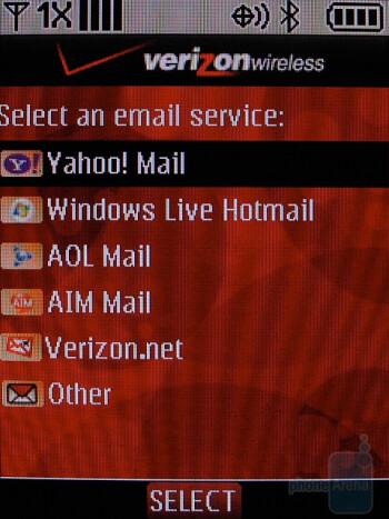 E-mail - LG Glance VX7100 Review