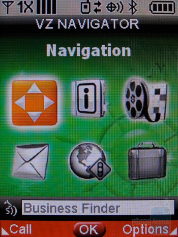 Access to common applications is gained under the Tools Menu - LG Glance VX7100 Review