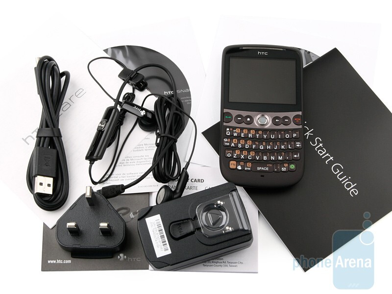 HTC Snap box and accessories - HTC Snap Review