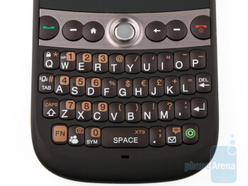 The four-row full QWERTY keyboard of HTC Snap - HTC Snap Review