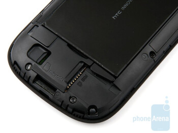 The microSD slot is underthe battery cover - HTC Snap Review