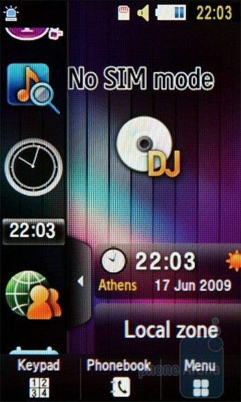 The latest TouchWiz user interface of Samsung BEAT DJ M7600 - Samsung BEAT DJ M7600 Review