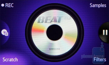 The most distinctive feature of the phone is the Beat DJ application - Samsung BEAT DJ M7600 Review