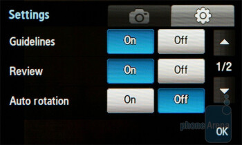 Camera interface - Samsung BEAT DJ M7600 Review