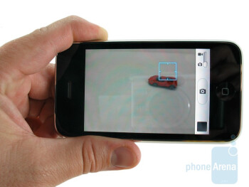 The camera interface of Apple iPhone 3GS - Apple iPhone 3GS Review