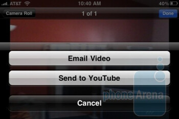 Apple iPhone 3GS lets you upload directly to YouTube - Apple iPhone 3GS Review