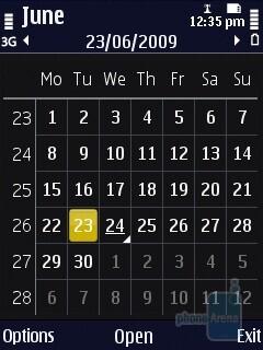 Calendar - The organizer of the Nokia N86 8MP - Nokia N86 8MP Review