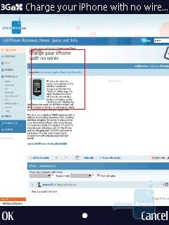 The web browser of the Nokia N86 8MP - Nokia N86 8MP Review