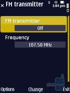 FM transmitter - Nokia N86 8MP Review