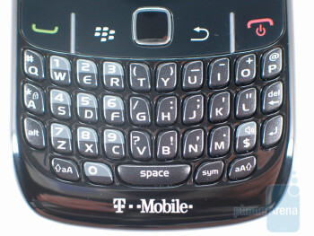The keyboard of RIM BlackBerry Curve 8520 - RIM BlackBerry Curve 8520 Review