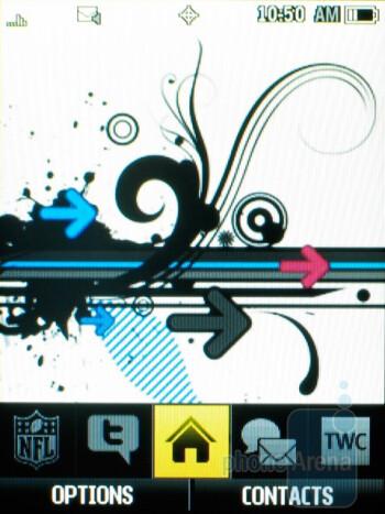 The Samsung Exclaim SPH-M550 runs Sprint's One Click UI - Samsung Exclaim SPH-M550 Review