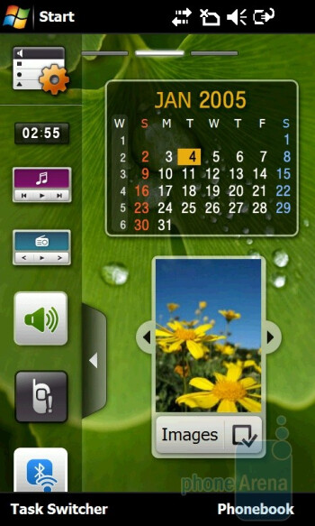 'Life mode' home screen - Samsung OmniaPRO B7610 utilizes the TouchWiz 2.0 interface - Samsung OmniaPRO B7610 Preview