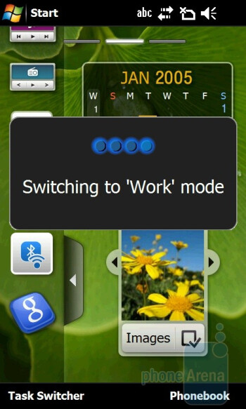Samsung OmniaPRO B7610 utilizes the TouchWiz 2.0 interface - Samsung OmniaPRO B7610 Preview