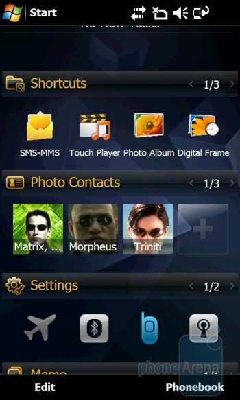 'Work mode' home screen - Samsung OmniaPRO B7610 Preview