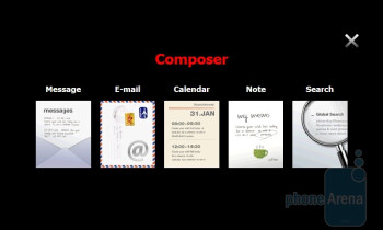 The Composer menu - Samsung OmniaPRO B7610 Preview