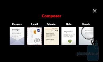 The Composer menu - Samsung OmniaPRO B7610 Preview