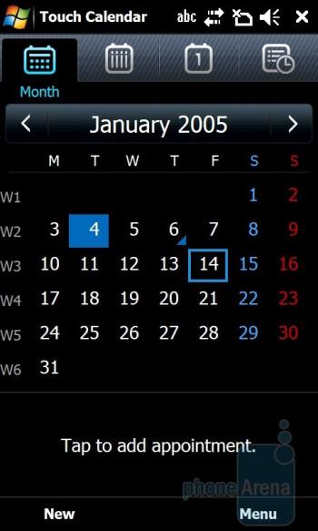 Touch Calendar - Samsung OmniaPRO B7610 Preview