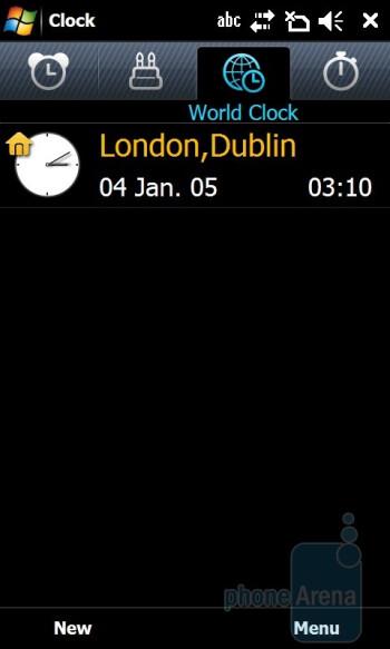 World Clock - Samsung OmniaPRO B7610 Preview
