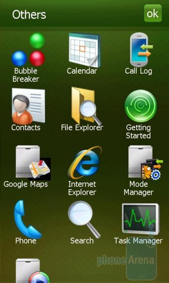 Main menu - Samsung OmniaPRO B7610 Preview