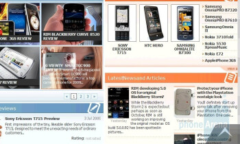 The browser of Samsung OmniaPRO B7610 - Samsung OmniaPRO B7610 Preview