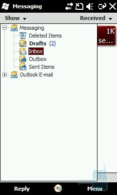 Messaging - The original Windows Mobile 6.5 interface - Samsung OmniaLITE B7300 Preview