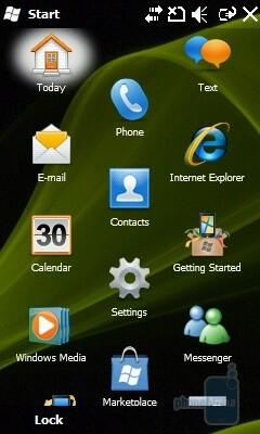 Start menu - The original Windows Mobile 6.5 interface - Samsung OmniaLITE B7300 Preview