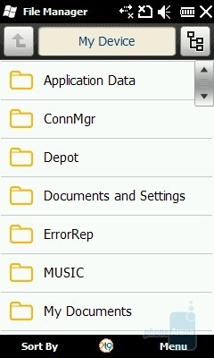 File Manager - Samsung OmniaLITE B7300 Preview