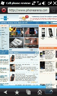 Opera Mobile on the Samsung OmniaLITE B7300 - Samsung OmniaLITE B7300 Preview