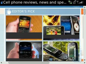 The browser of RIM Blackberry Tour 9630 - RIM BlackBerry Tour 9630 Review