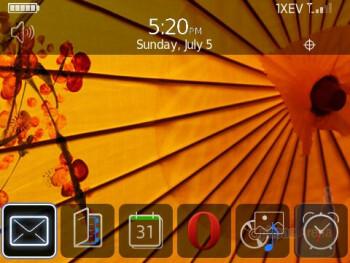 The RIM BlackBerry Tour 9630 runs OS 4.7 - RIM BlackBerry Tour 9630 Review