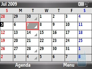 The full featured calendar of HTC Snap CDMA - HTC Snap CDMA Review