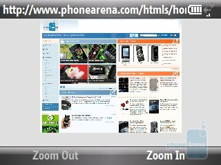 The Browser of HTC Snap CDMA - HTC Snap CDMA Review