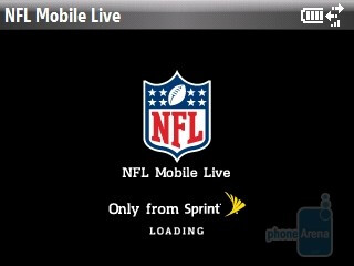 Sprint NFL Mobile app - Software features of the HTC Snap CDMA - HTC Snap CDMA Review