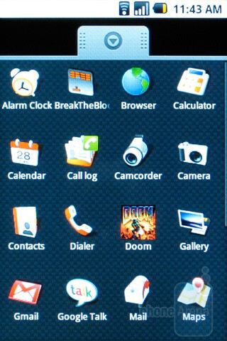 Main menu - HTC Magic Review