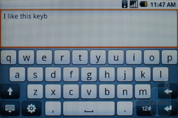 The on-screen keyboard of HTC Magic - HTC Magic Review