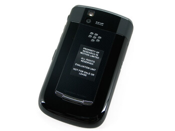 The soft touch coated and hard plastic battery door variants - RIM BlackBerry Tour 9630 Review