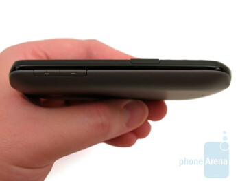 The front and sides of the HTC Ozone XV6175 are black, and the back is gray - HTC Ozone XV6175 Review